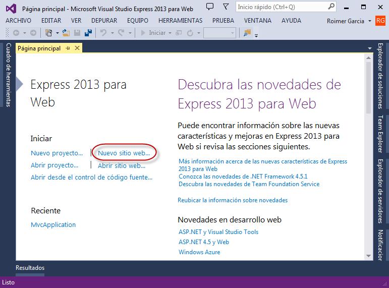 Nuevo Proyecto en Visual Studio Express 2013 - Programación de Complementos para eFactory ERP/CRM, Contabilidad y Nómina