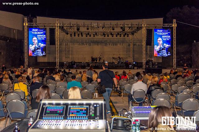 Koncert Gibonni ljetna pozornica Opatija 28.08.2021 Foto: Borna Ćuk