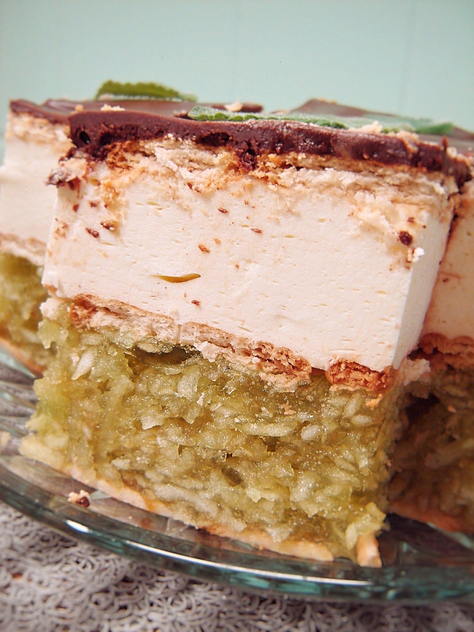 Ciasto Zielone Jabłuszko (bez pieczenia)
