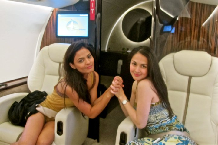 lovi poe and marian rivera in private jet