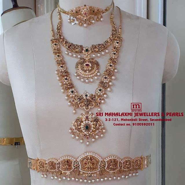 Nakshi Floral Long Set Chokers