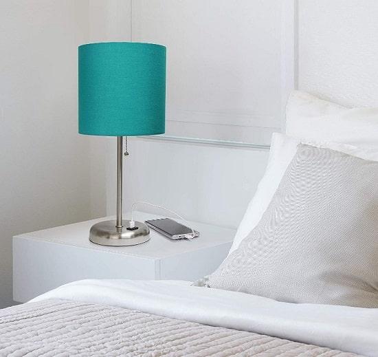 تيبل لامب بقاعدة ستانلس لغرف النوم موديل 2020-min