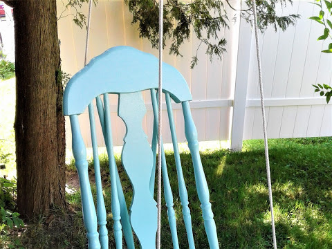 How to Make a Plant Swing Out of a Chair and Fresh Peaches and Cream Cupcakes