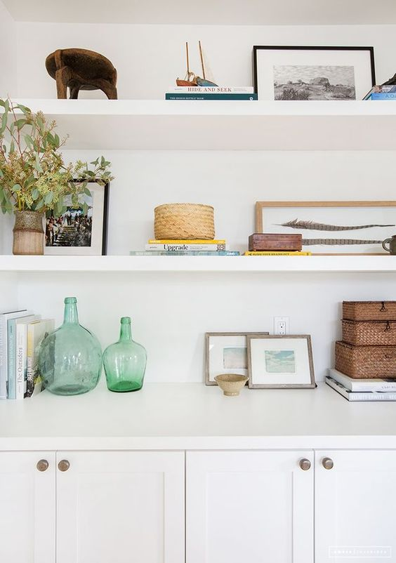 how to add style to my shelves