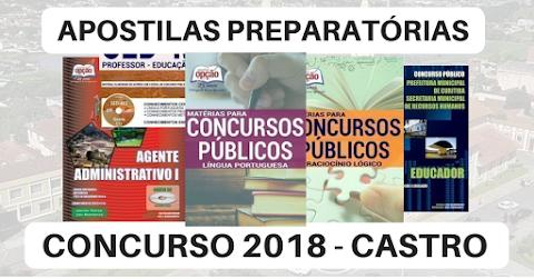 Apostilas Preparatórias para Concurso da Prefeitura de Castro