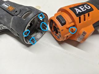 Werkzeugwechsel AEG Omni