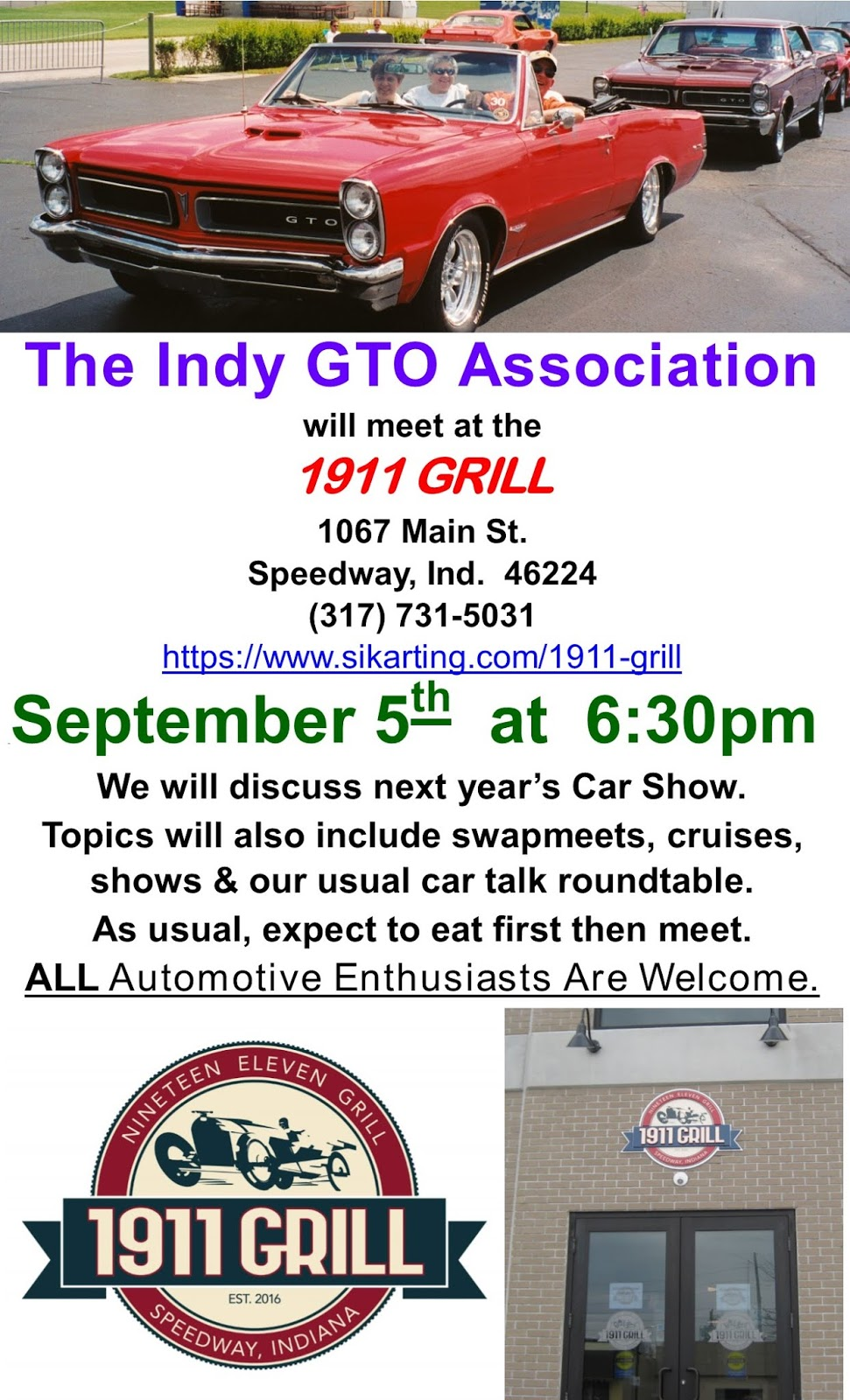 Indy GTO Association - Carmel indiana car show