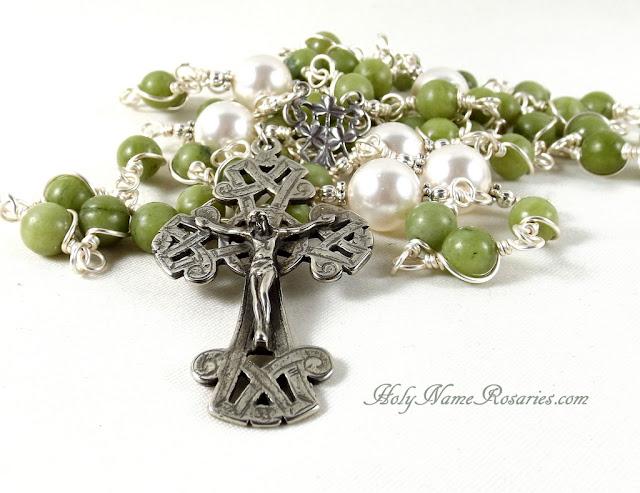 Etsy Rosary Guild Team Irish Celtic Rosary Green