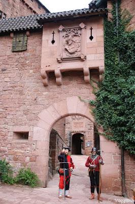 La Porta di ingresso al castello di Haut Koenigsbourg