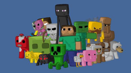 Minecraft - Personnages du Jeu Pixels - Full HD 1080p