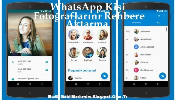 WhatsApp Fotoğraflarını Rehbere Aktarma, WhatsApp Fotoğraflarını Rehbere Senkronize Etme, WhatsApp Fotoğraflarını Arayan Resmi Yapma, Contact Photo Sync İndir,  Contact Photo Sync Kullanma
