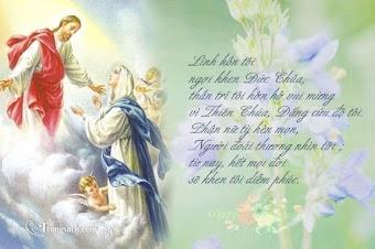 Con cảm tạ chúc tụng Chúa đời đời vì đã tạo dựng nên Mẹ Maria rất thùy mị, rất nhân từ đối với những tội nhân đê tiện nhất