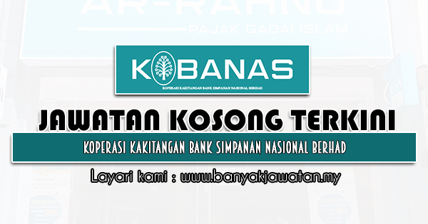 Jawatan Kosong 2021 di Koperasi Kakitangan Bank Simpanan Nasional Berhad