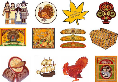 Image: Free printable Thanksgiving paper crafts