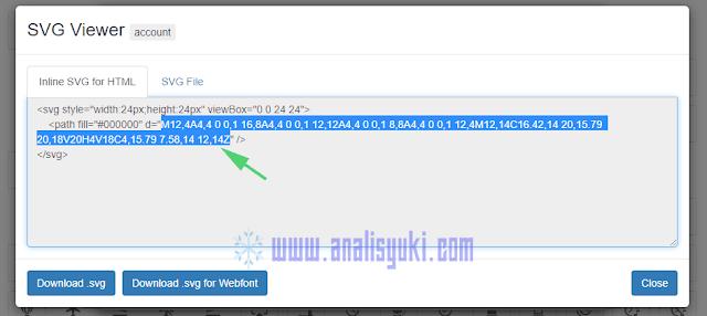 Cara Menambahkan Icon SVG di Menu Navigasi Blogger