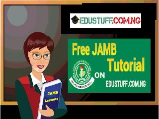 JAMB Free Tutorial On Word Stress