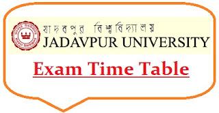 Jadavpur University Exam Date Sheet 2020