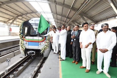 Hyderabad Metro Rail becomes Country's 2nd largest operational Metro Project