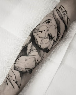california bear tattoo