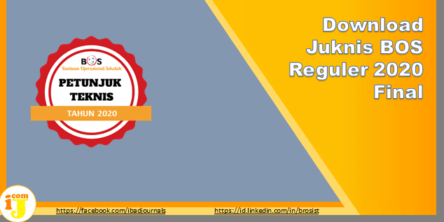 Download Juknis BOS Reguler 2020 Final