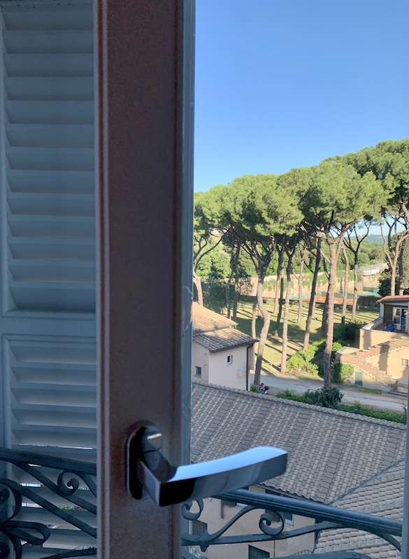 Window view from guest room Hotel Sofitel Villa Borghese Rome-Gillian Longworth McGuire