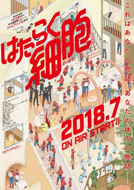 Anime sobre as células do corpo humano vai ao ar em Julho de 2018