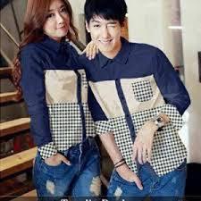 Baju Kemeja Couple Wanita dan Pria Terbaru