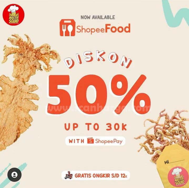 MASTER SQUID NOW AVAILABLE ON SHOPEE FOOD! Dapatkan DISKON hingga 50%
