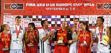 Lithuania's men, Spain's women win FIBA 3x3 U18 Europe Cup 2019