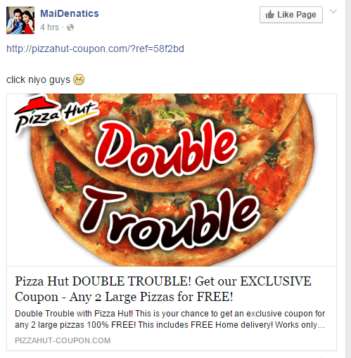 Viral Pizza Hut alleged Double Trouble Promo