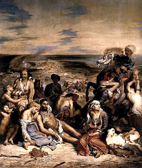 Eugene Delacroix - Il massacro di Scio - arte - dipinti