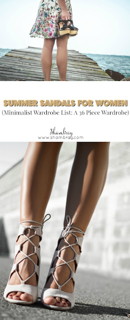 Summer Sandals for Women (Minimalist Wardrobe List: A 36 Piece Wardrobe)