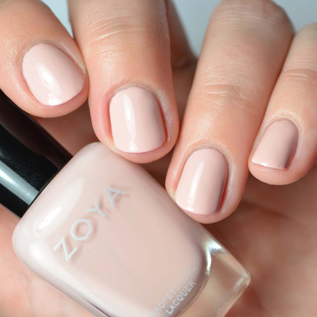 light pink creme nail polish