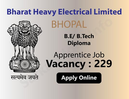 BHEL Apprentice Recruitment Apply Online