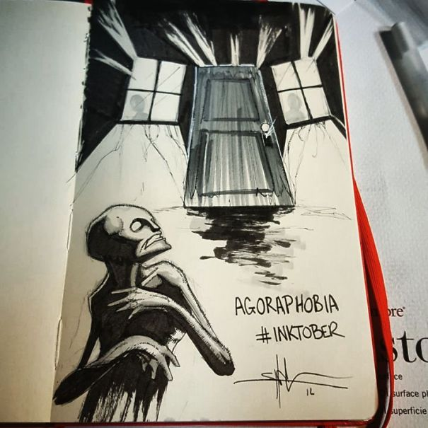 Artist Paints Mental Illnesses And Turns Them Into Realistic Illustrations - Agoraphobia