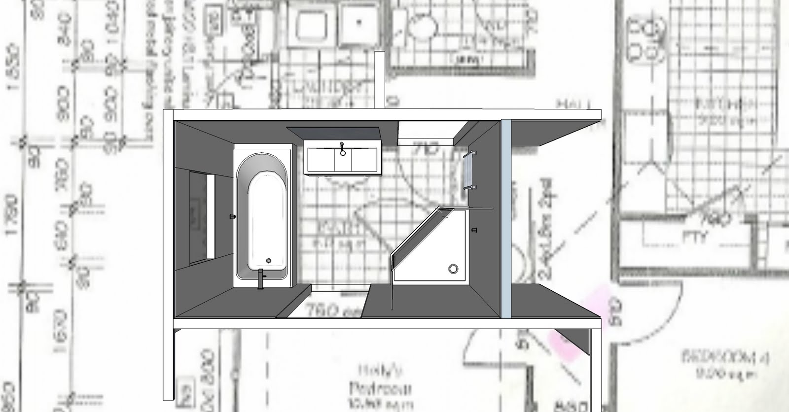 The Bath Room 2: Tuesday_Sketchup model
