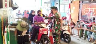 Dandim 0505/JT Mengecek Giat PDMPK di Pasar PIK dan Simpang tiga Penggilingan