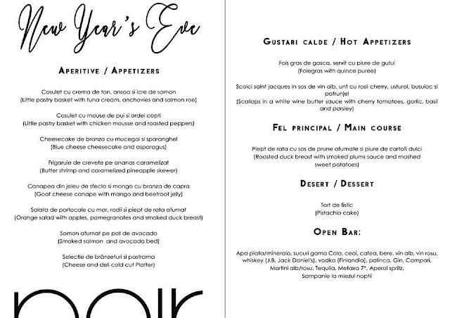 Revelion 2018, la restaurantul Noir