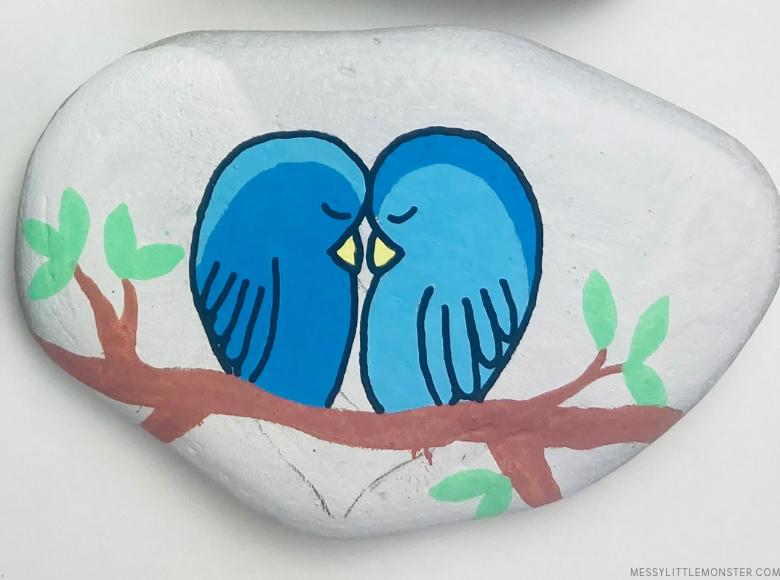 bird painted rocks