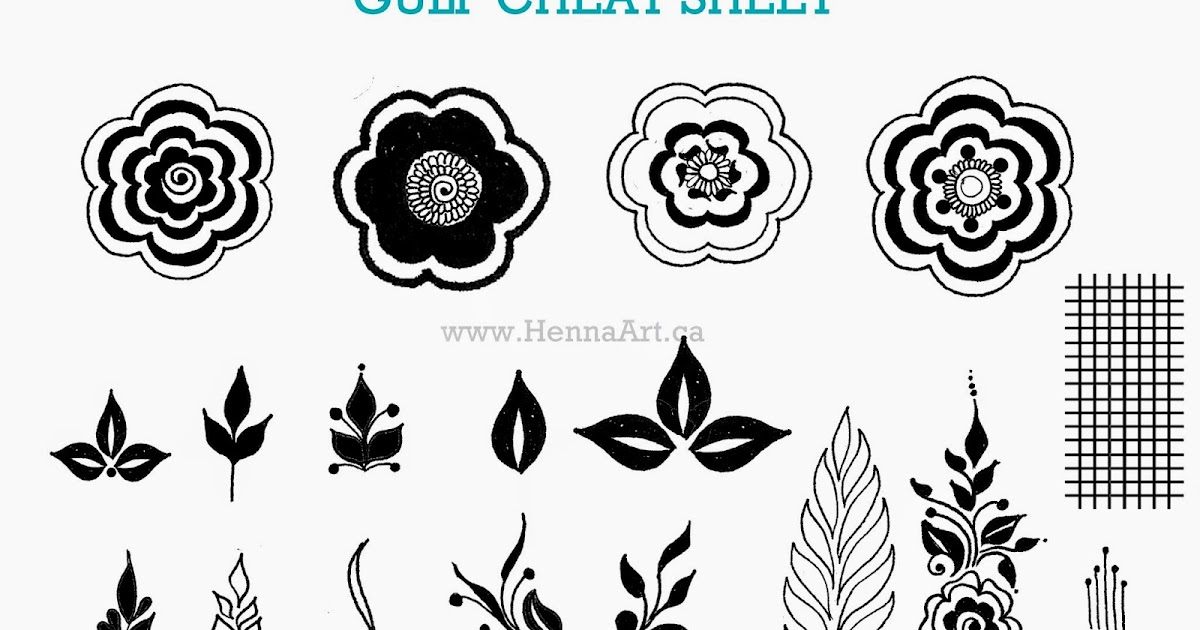 HennaArt.ca: Gulf Cheat Sheet