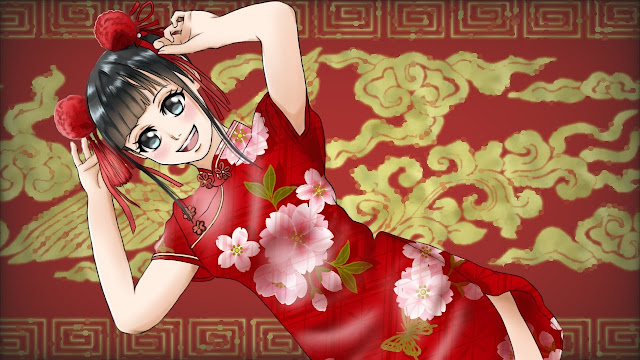 Chinese dress (free anime images)