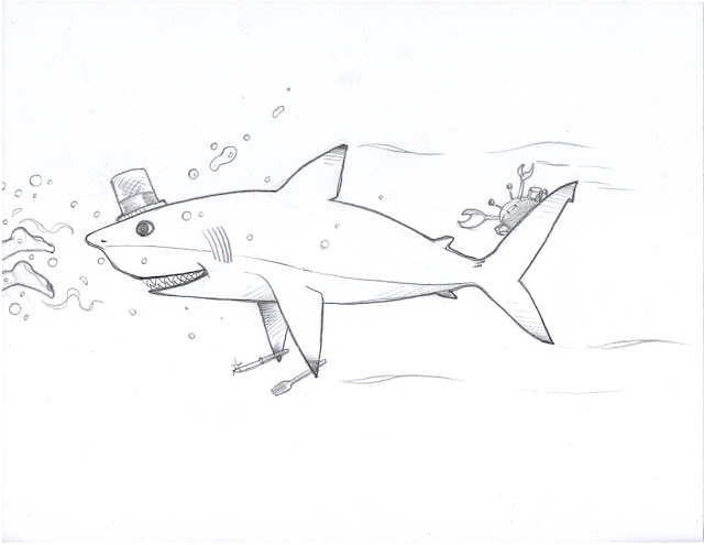Sharky McSharkpants Drawing