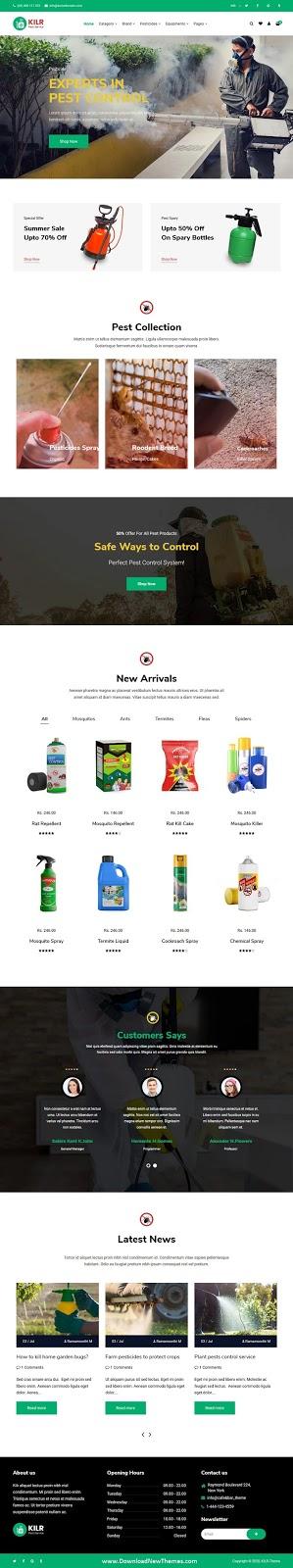 Pest Control Website Theme