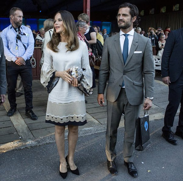 Prince Carl Philip and Princess Sofia Hellqvist at the Swedish Local Heritage Federation 100th anniversary ceremony. Sofia Hellqvist Style