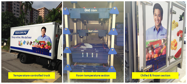 Tesco temperature-controlled truck