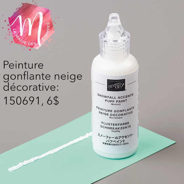 peinture gonflante neige décorative Stampin' Up!