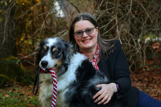 Zazie Todd, PhD, author of Wag, with her late dog Bodger