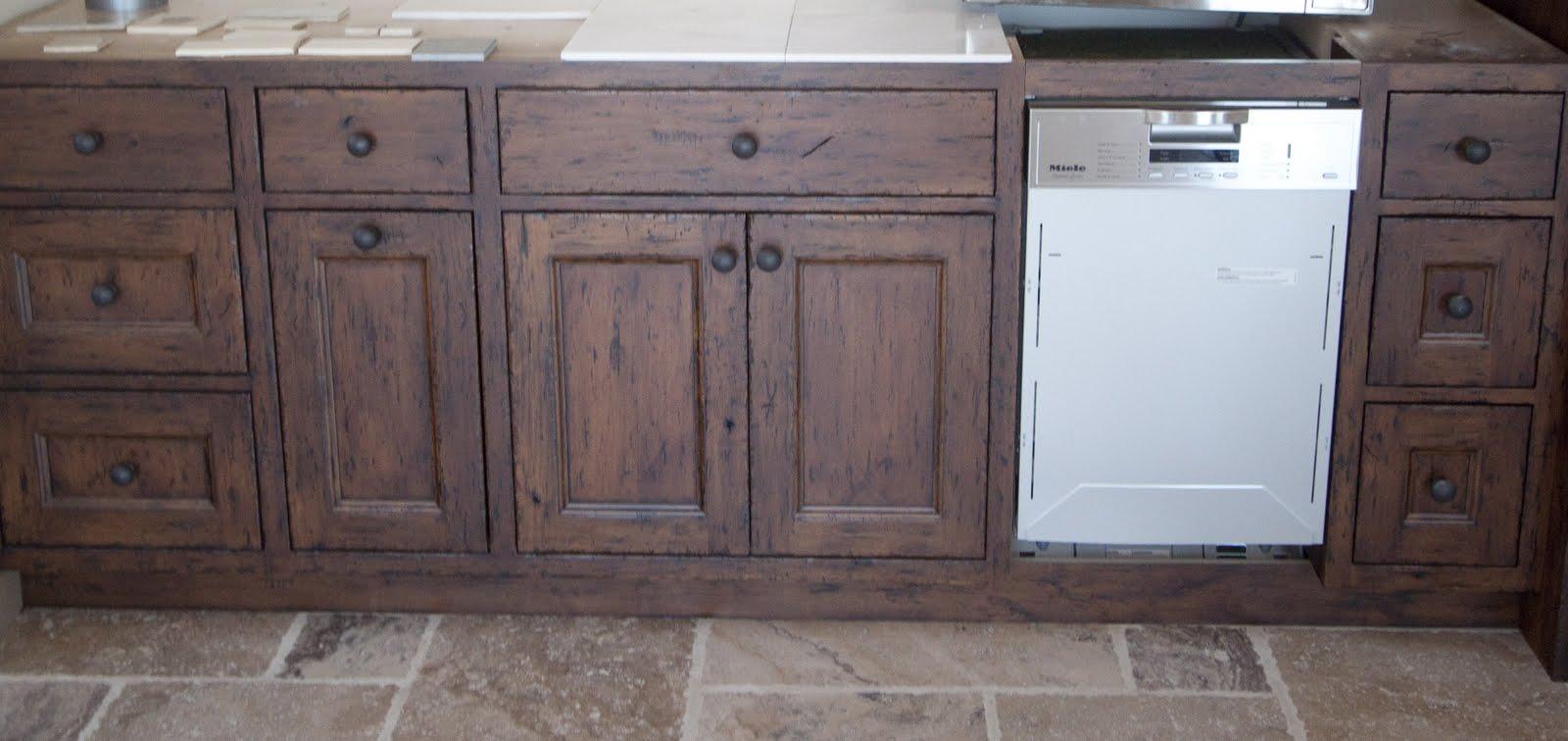 Antique White Stain Kitchen Cabinets