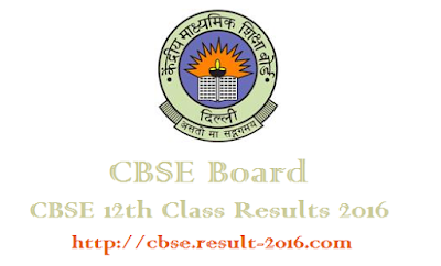 CBSE 12th Class Results 2016