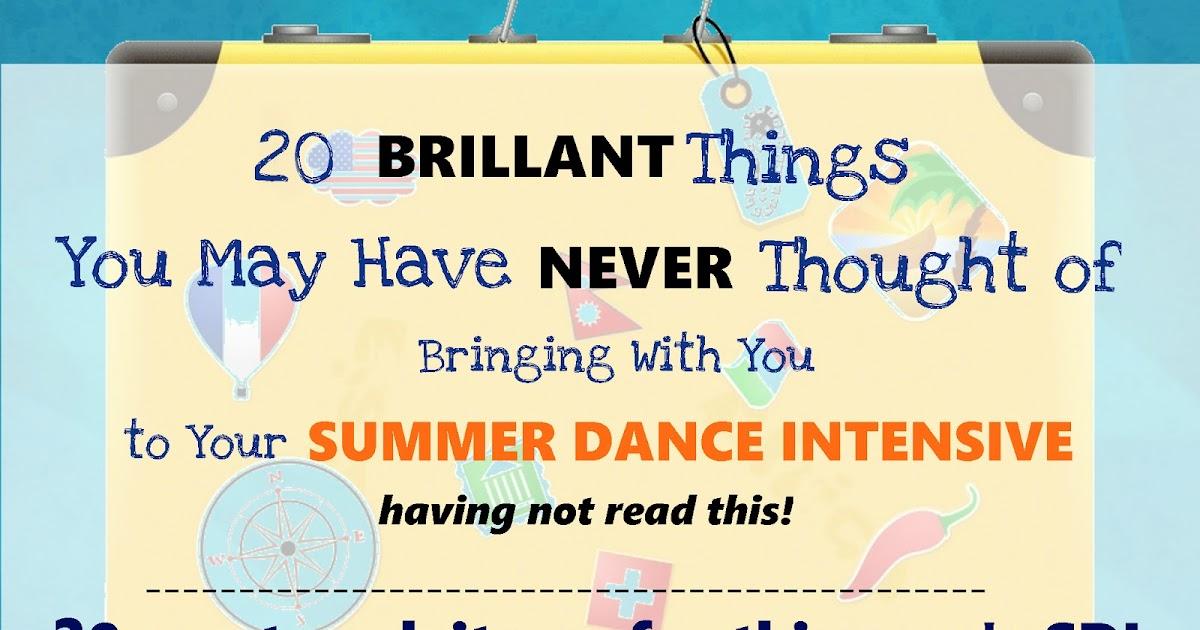 54fb7d10efed A Summer Dance Intensive Packing List